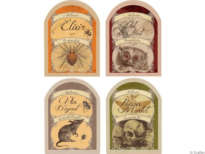 Étiquettes de bouteille